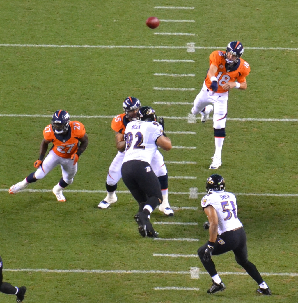 5 Manning first pass ravens